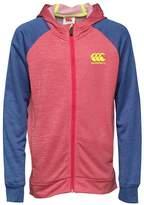 Canterbury of New Zealand Junior Boys Full Zip Poly Hoody Azalea Marl