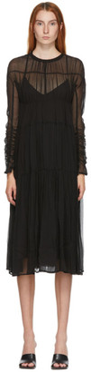 LVIR Black Silk Tiered Dress