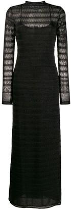 M Missoni knit overlay maxi dress