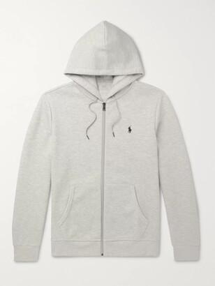 Polo Ralph Lauren Melange Jersey Zip-Up Hoodie