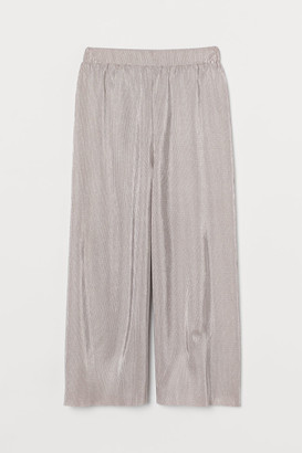 H&M Cropped Jersey Pants - Pink