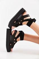 Ribbon Lace-Up Platform Sandal