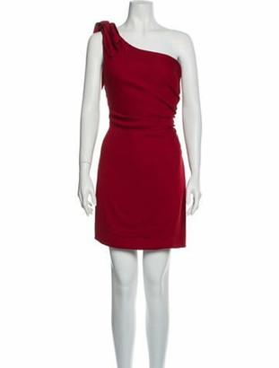 Valentino One-Shoulder Mini Dress Red