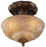 """10"""" Semi-Flush Ceiling Light - Golden Bronze"""
