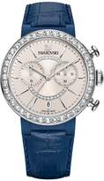 Swarovski Women's 38mm Blue Leather Band Steel Case Quartz -Tone Dial Analog Watch 5210208