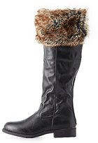 Charlotte Russe Bamboo Faux Fur-Cuffed Riding Boots