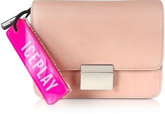 Ice Play Flap-Top Shoulder Bag w/Fluo Signature Tag