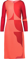 Antonio Berardi Two-tone wool-crepe dress