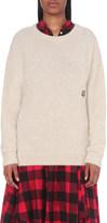 The Elder Statesman Ted logo-detail cashmere jumper