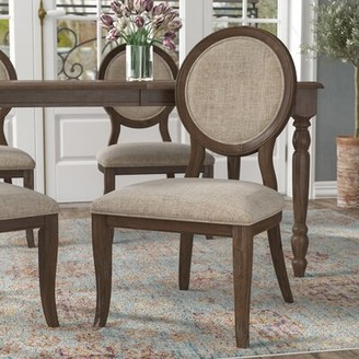 Alverta Upholstered King Louis Back Side Chair Greyleigh Upholstery Color: Rustic Oak