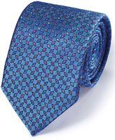 Charles Tyrwhitt Mid Blue Silk English Luxury Diamond Tie Size OSFA