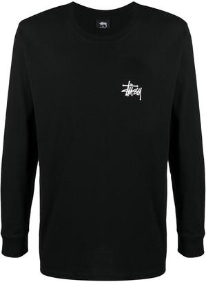 Stussy rear logo print T-shirt