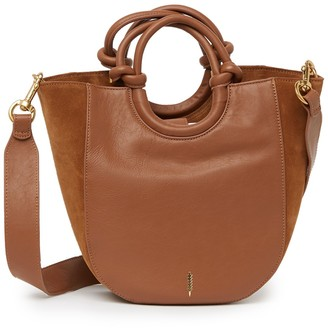 THACKER Claire Leather & Suede Shopper Bag