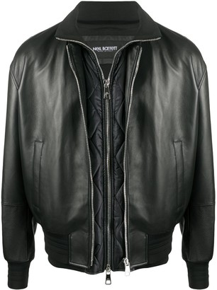 Neil Barrett Removable Gilet Leather Jacket