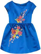 Junior Gaultier Mini Me embroidered satin dress