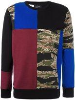 Diesel multi print sweatshirt - men - Cotton/Polyester - S