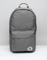 Converse Classic Logo Backpack In Gray