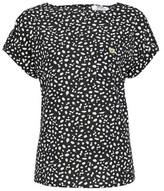 Dorothy Perkins Womens Dp Petite Black Spot Print Short Sleeve T