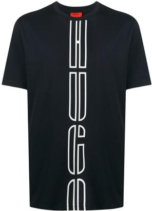 HUGO BOSS crew neck logo print T-shirt