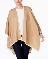 Charter Club Tipped Knit Reversible Poncho, Created for Macy's