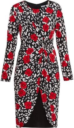 Gina Bacconi Bettina Jersey Knot Wrap Dress