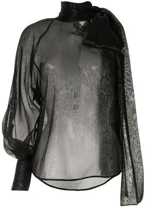 Petar Petrov Bray metallic one sleeve blouse