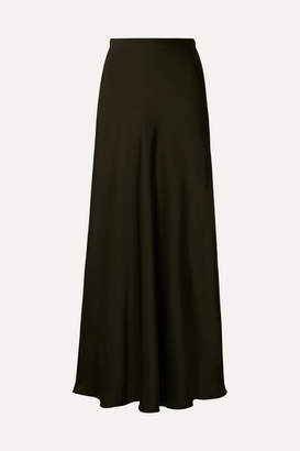 Rosetta Getty Satin Maxi Skirt - Army green