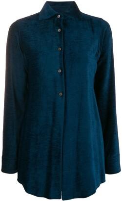 Romeo Gigli Pre-Owned 1990's Ribbed Slim Shirt