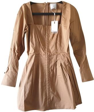 C/Meo Camel Cotton Dresses