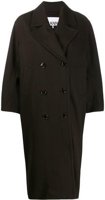 Ganni double breasted oversized coat