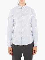 A.P.C. Striped Cotton-Linen Blend Ètienne Shirt