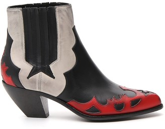 Golden Goose Contrasting Panelled Cowboy Boots