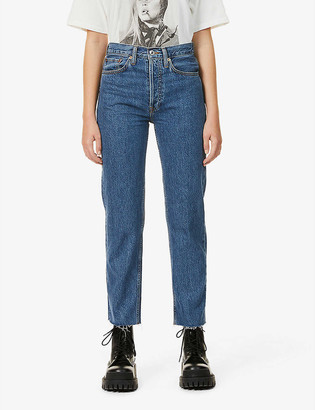 RE/DONE Stove Pipe straight-leg high-rise jeans