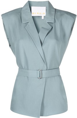 REMAIN Belted Sleeveless Blouse