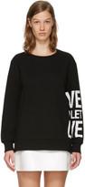 Neil Barrett Black 'Live And Let Live' Sweatshirt