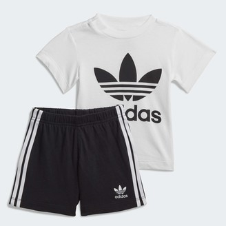adidas boys Trefoil Shorts Tee Set T Shirt