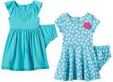 Nannette Baby Girl Floral & Crochet Dress Set