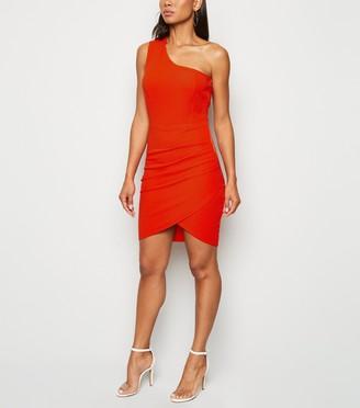 New Look AX Paris One Shoulder Mini Dress