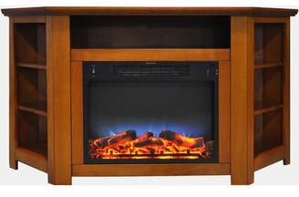 Red Barrel Studio Cesar TV Stand for TVs up to 60 inches with Fireplace Included Red Barrel Studio Color: Cherry