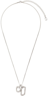 Numbering Silver 938 Box Chain Necklace