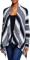 Three Dots Aria Striped Cardigan