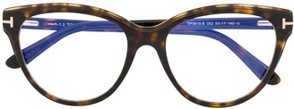 Tom Ford FT5618B round-frame glasses