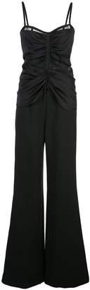 Jonathan Simkhai ruched wide-leg jumpsuit