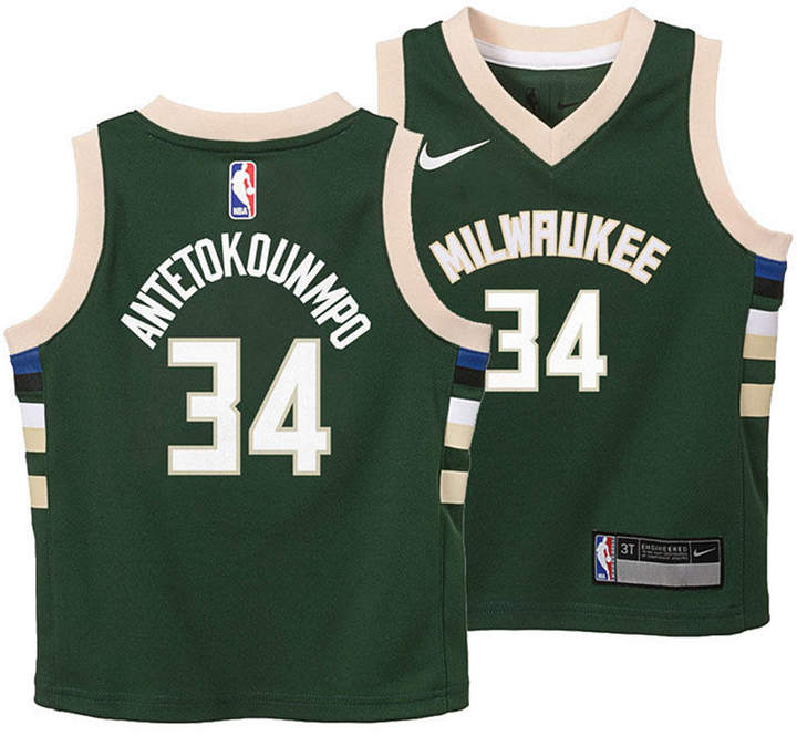 sneakers for cheap 8ebfb 1cfb2 Giannis Antetokounmpo Milwaukee Bucks Icon Replica Jersey, Toddler Boys  (2T-4T)