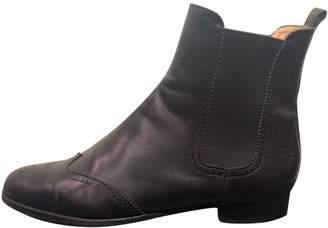 Unützer Black Leather Ankle boots