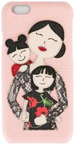 Dolce & Gabbana family patch iPhone 6 case - women - Leather - One Size