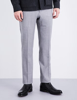 Armani Collezioni Modern-fit stretch-wool trousers