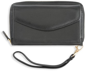 Royce New York Leather Wristlet Wallet