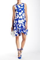 Julia Jordan Sleeveless Floral Trapeze Dress