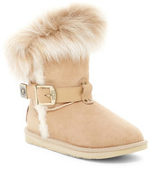 Australia Luxe Collective Tsar Short Genuine Shearling Boot With Genuine Fox Fur Trim